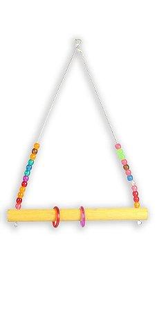Brinquedo Trapézio Circus Color P Para Aves Big Toys