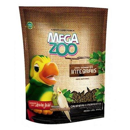 Alimento Extrusado Integral Para Calopsita E Periquito Megazoo 350g