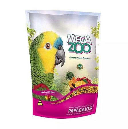 Alimento Para Papagaio Megazoo Frutas E Legumes 4kg