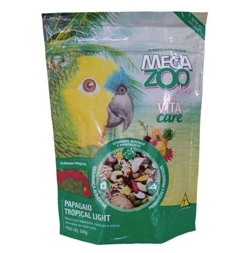Alimento Integral Para Papagaio  Megazoo Mix Topical Light  500g