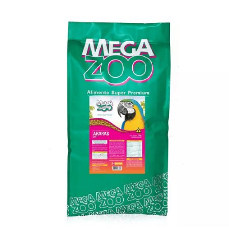 Alimento Extrusado Para Arara Megazoo (A17) 12kg