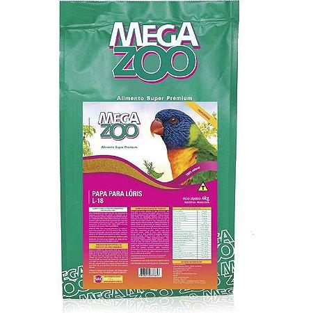 Alimento Papa 100% Natural Para Lóris Megazoo (L18) 6kg