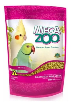 Alimento Extrusado Para Calopsitas E Ring-Necks Megazoo (MM15) 900g