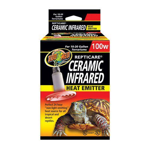 Lampada de Cerâmica Aquecimento Para répteis Zoo Med Ceramic Infrared 100W
