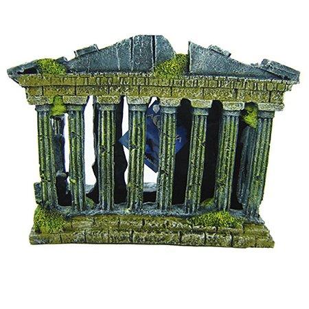 Enfeite Em Resina Ruina Grega Para Terrários