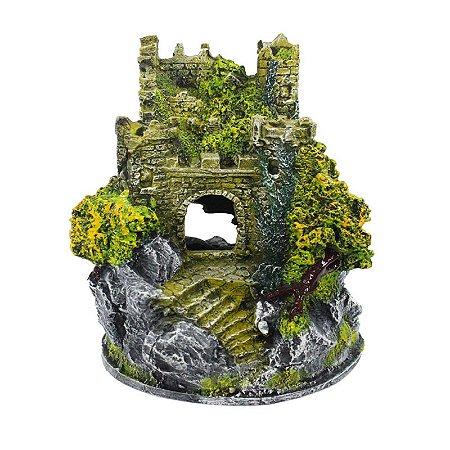 Toca Enfeite Em Resina Castelo Medieval Para Repteis E Aracnideos