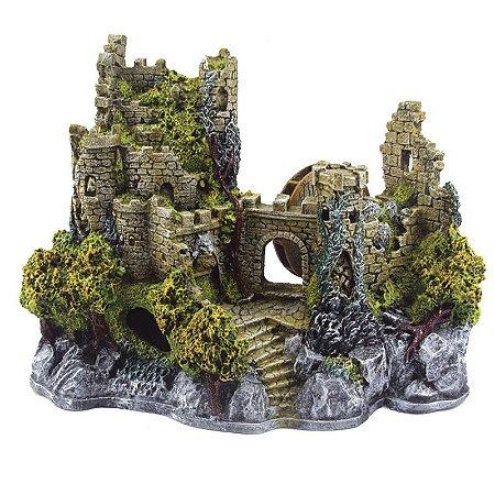 Toca Enfeite Em Resina G Castelo Medieval Para Repteis E Aracnideos