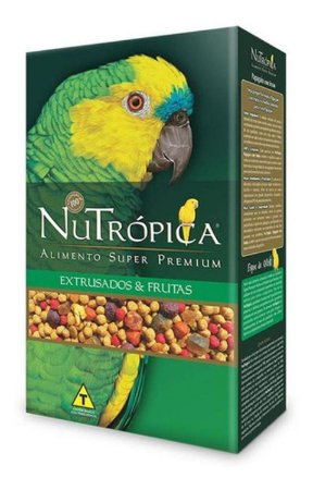 Ração Nutrópica para Papagaio Com frutas - 600g