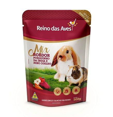 Alimento Para Mini Coelho Porquinho Da Índia Mix Roedor 500g