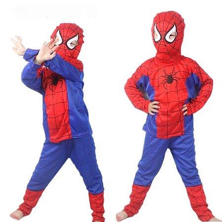 Fansatia homem aranha infantil spidermam - Bebê Requinte 5ccba623bdc