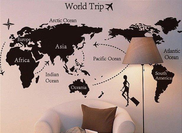 Adesivo de Parede - World Trip