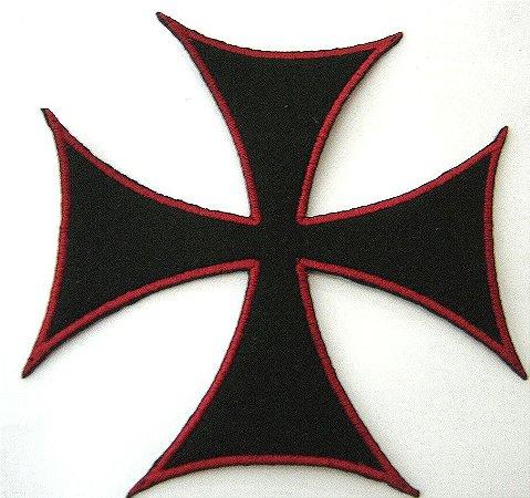 Patch Bordado Termocolante Cruz De Malta