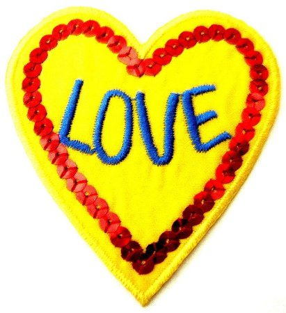 Patch Bordado Termocolante Love