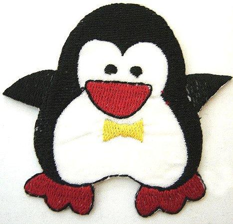 Patch Bordado Termocolante Pinguim