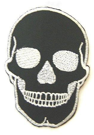 Patch Bordado Termocolante skull
