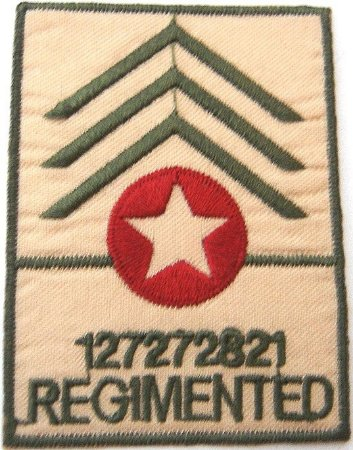 Patch Bordado Termocolante Regimented