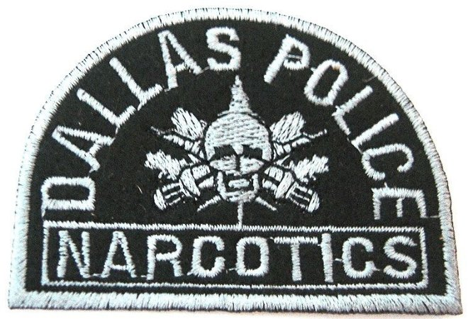 Patch Bordado Termocolante Dallas Police