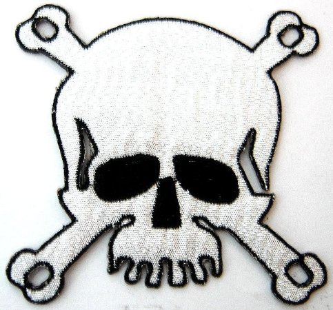 Patch Bordado Termocolante Skull