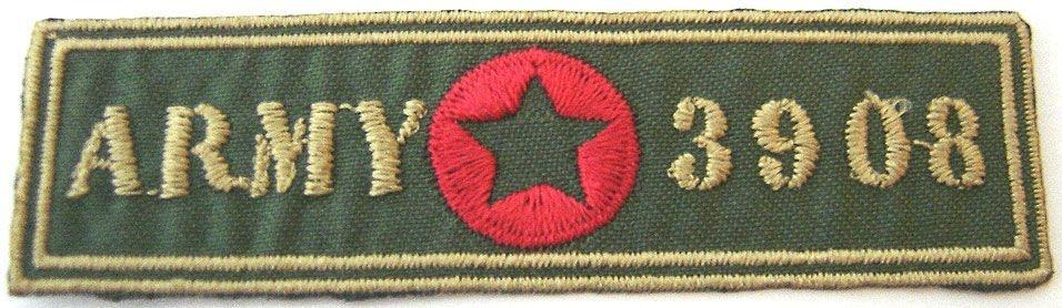 Patch Bordado Termocolante Army 3908