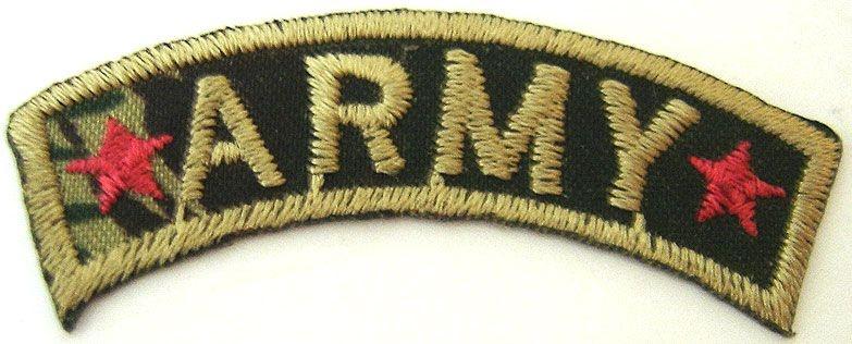 Patch Bordado Termocolante Army