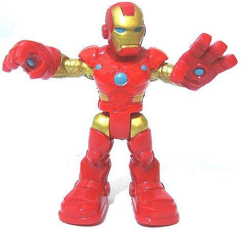 Boneco de Montar Homem de Ferro estilo Lego