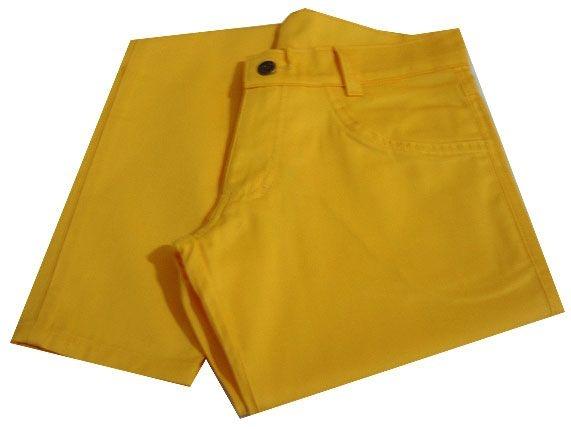 Calça Skinny Amarela com Elastano