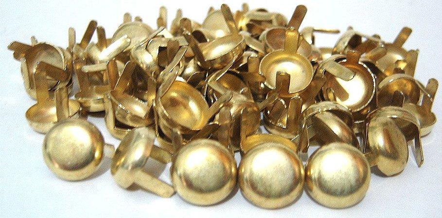 Rebite Tacha Grande Dourada para customização 150 peças