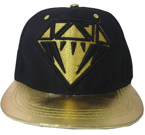 Boné Aba Reta Diamond Black Snapback / Flex