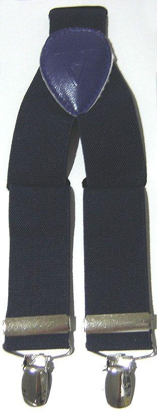 Suspensório Liso Azul Marinho Madstar 3,5 cm