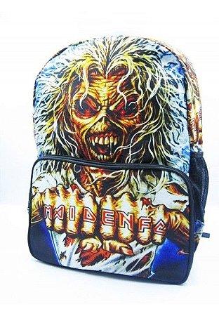 Mochila Caveira Iron Maiden Rock Madstar