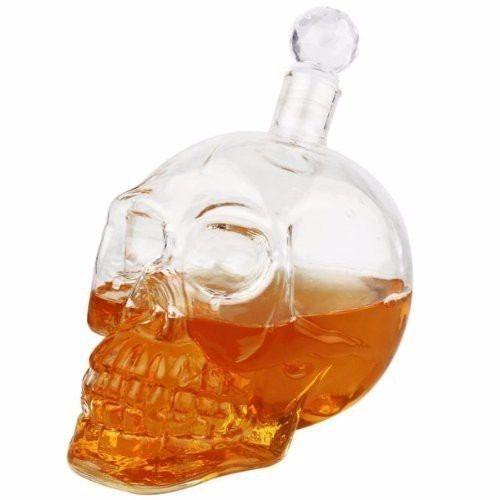 Garrafa Madstar Skull Crânio Caveira Whisky 550 Ml