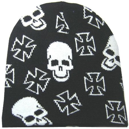 Touca Punk Rock Cruz De Malta Skull