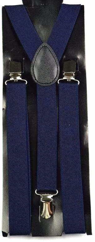 Suspensório Liso Azul Marinho Madstar Colors