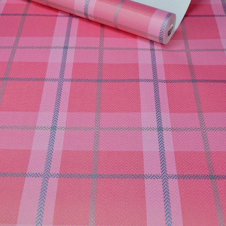 Papel de Parede Xadrez Rosa (Pink)