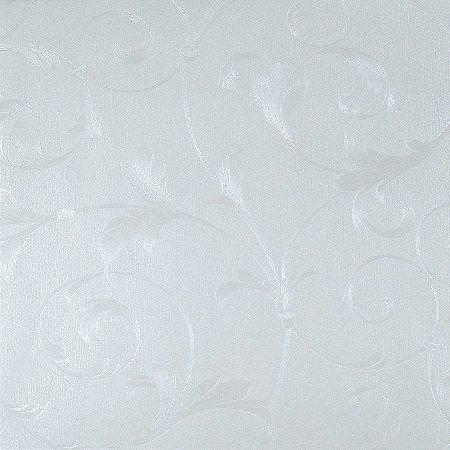 Papel de Parede Branco Pérola com Arabescos em Branco (perolado)