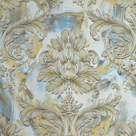 Papel de Parede Fundo Patina com Dourado (toque de glitter na textura)