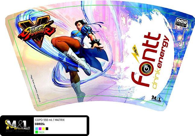 Copo Oficial Street Fighter: Chun-li