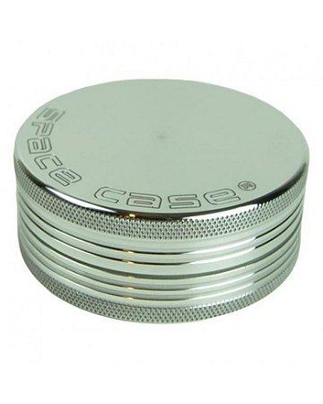 Dichavador 90mm Magnético 2 Partes Prata - Space Case