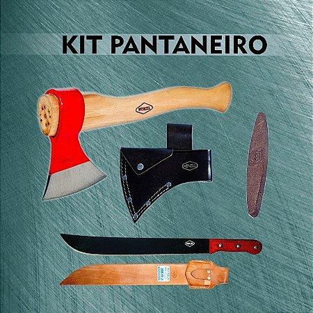 Kit Pantaneiro C/ Bainha Machadinha Preta