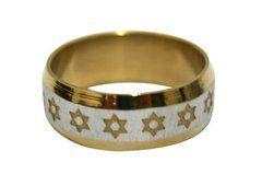 Shema Israel anel de aço cirúrgico