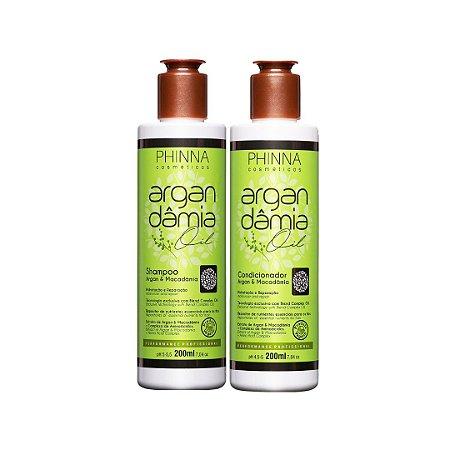 Kit Argan Dâmia Oil (Shampoo + Condicionador) - Phinna Cosmeticos