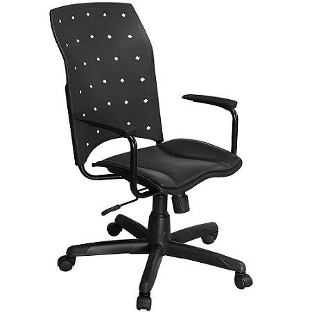 Cadeira Iso Presidente Giratória com Braços e Sistema Relax - Pethiflex