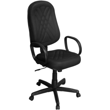 Cadeira Presidente Classic Giratória com Regulagem e Braço de Apoio PP02-2 - Pethiflex