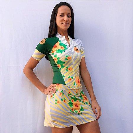 MACAQUINHO ELITE GIRASSOL VOU DE BIKE E SALTO ALTO SAIA MC