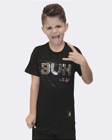 T-SHIRT BUH PAETE PRETO KIDS