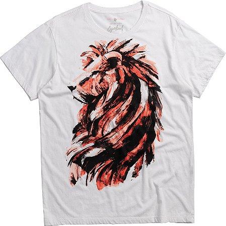 T-SHIRT BRUSH LION / BRANCO
