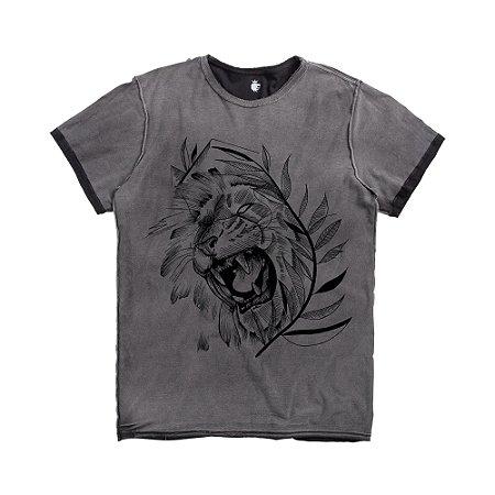T-SHIRT DOUBLE FACE LION VDV / PRETO