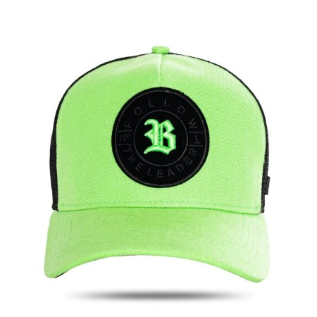 BONÉ SNAPBACK TRUCKER NUMBER ONE GREEN BLACK
