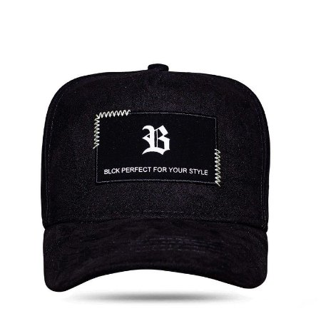 BONÉ SNAPBACK NEW SQUARE SUEDE BLACK