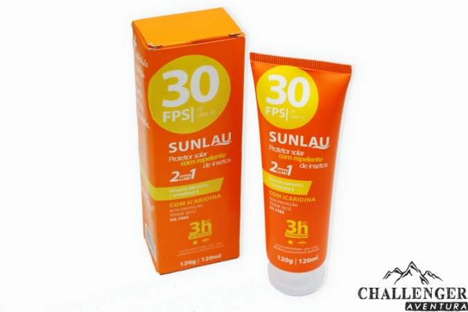 Protetor solar e repelente Sunlau  fator 30